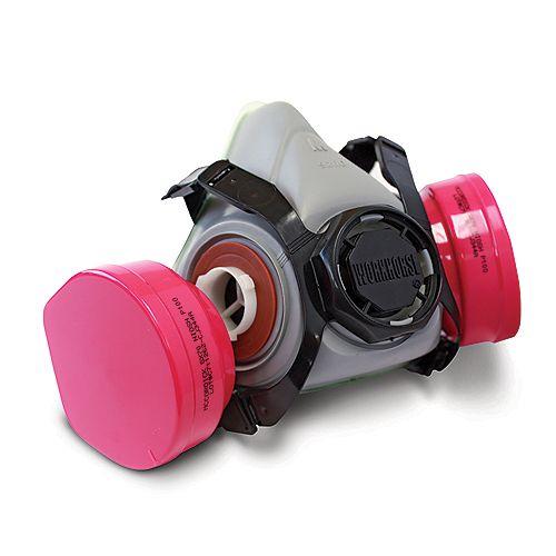 Respirateur à demi-masque à double cartouches, P100, amiante et plomb