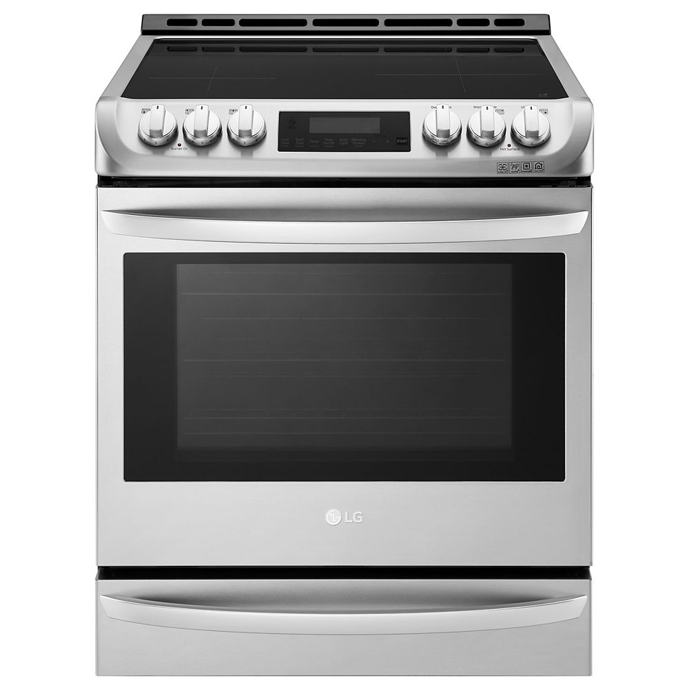 LG Electronics 6.3 cu. ft. Induction Slide-In Range with ProBake Convection and EasyClean® in Stainless Steel