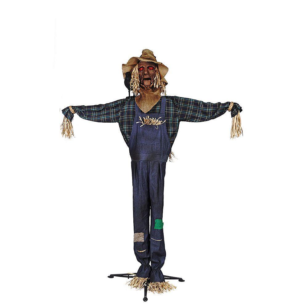 72 inch LED Lit Animated Scarecrow Halloween Decoration