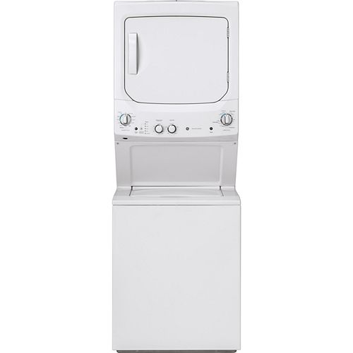 Spacemaker Unitized Apartment Size 27-inch Stacked Washer and Dryer Laundry Centre in White