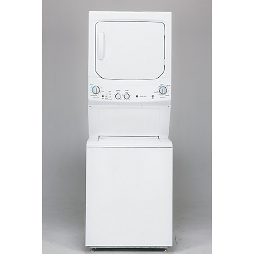 Unitized Apartment Size 27-inch Stacked Washer and Dryer Laundry Centre in White