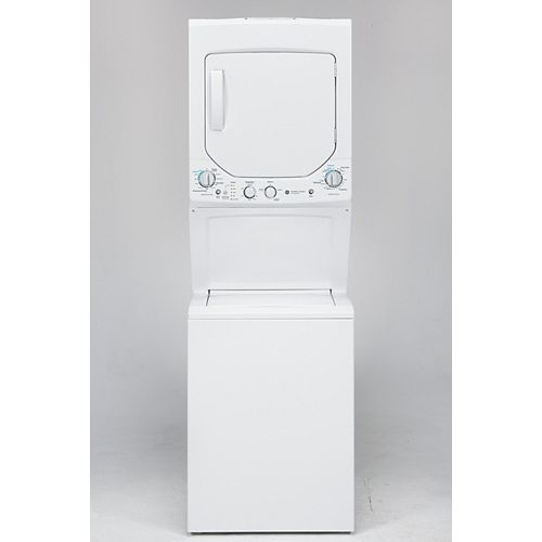 Unitized Apartment Size 24-inch Stacked Washer and Dryer Laundry Centre in White