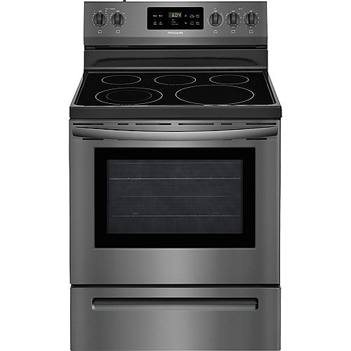 Frigidaire 30-inch 5.3 cu. ft. Electric Range with Self-Cleaning in Black Stainless Steel
