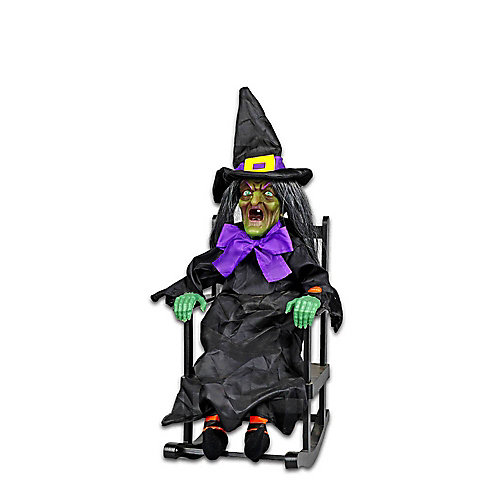 LED-Lit Animated Rocking Witch Halloween Decoration (Assorted Styles)