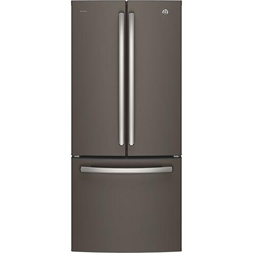 30 po 20,8 pi.cu. Réfrigérateur encastrable à porte française en ardoise - ENERGY STAR