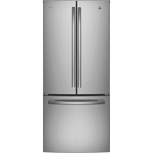 GE Profile 30 pouces L 20,8 pieds cubes Réfrigérateur à congélateur inférieur à porte quadruple française en acier inoxydable