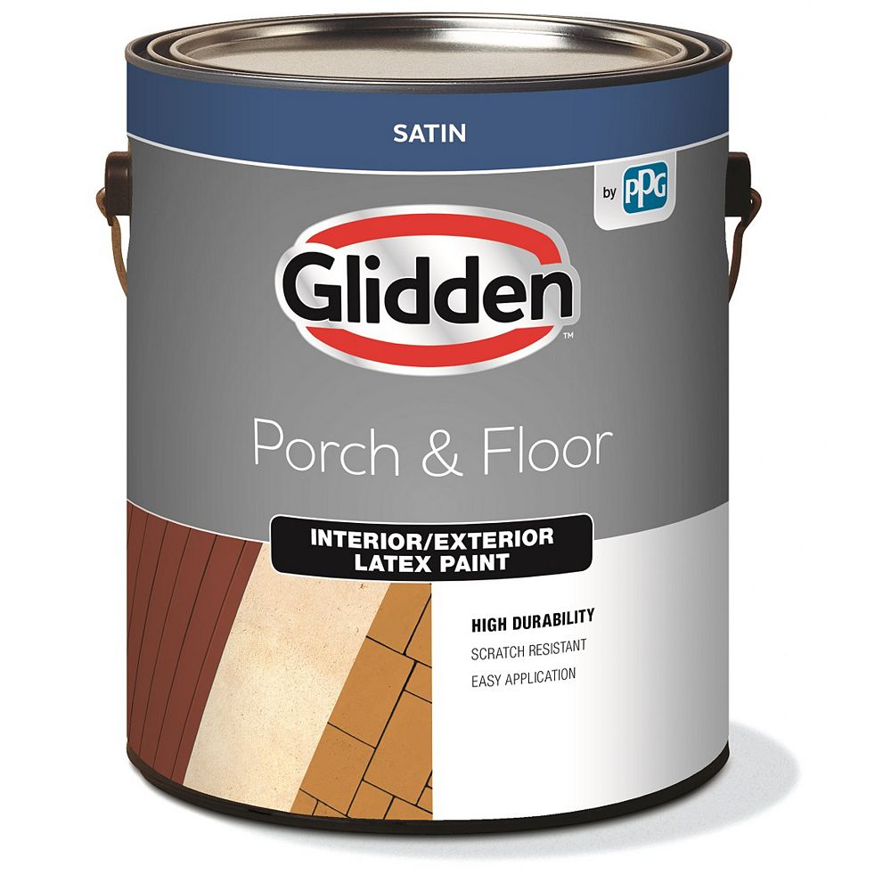 Glidden Planchers et galeries d'intérieur et  d'extérieur satiné - Base accent 3,37 L