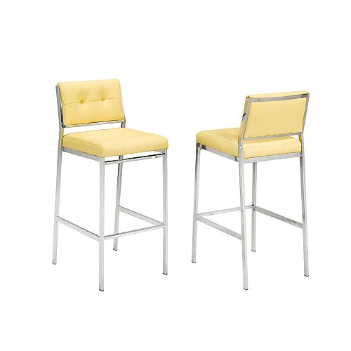 Sorrentto 29' Bar Stool in Yellow (Set of 2)
