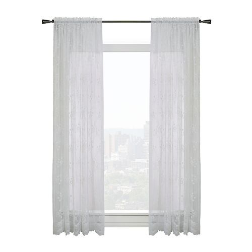 "Habitat Mona Lisa Sheer Rod Pocket Curtain Panel - 56"" W x 63"" L in White"