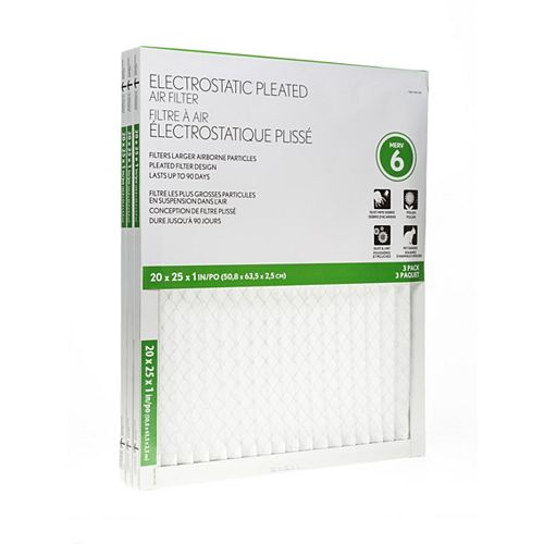 Basic Protection 20X25X1 Filter (12-Pack)