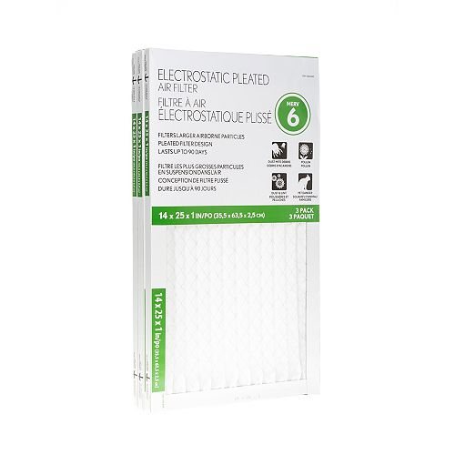 Basic Protection 14X25X1 Filter (12-Pack)