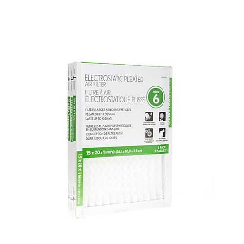 Basic Protection 15X20X1 Filter (12-Pack)