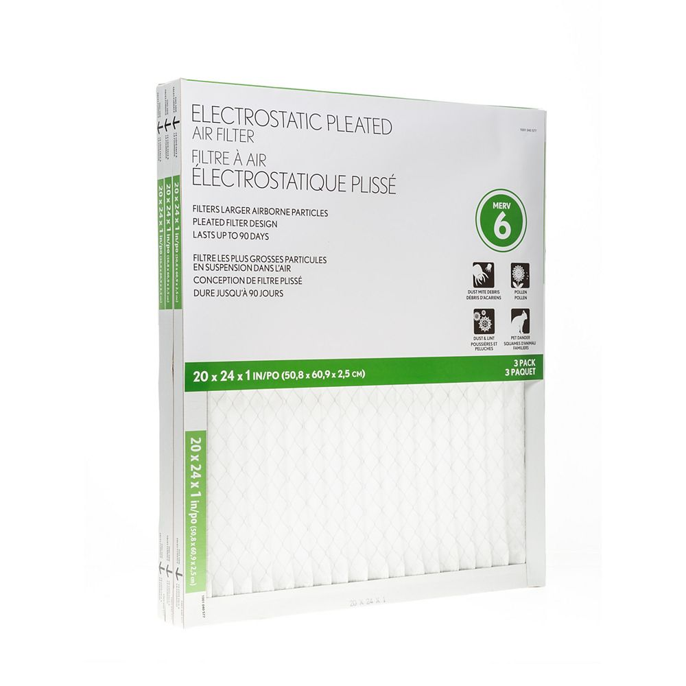 Air Flow Basic Protection 20X24X1 Filter (12-Pack)