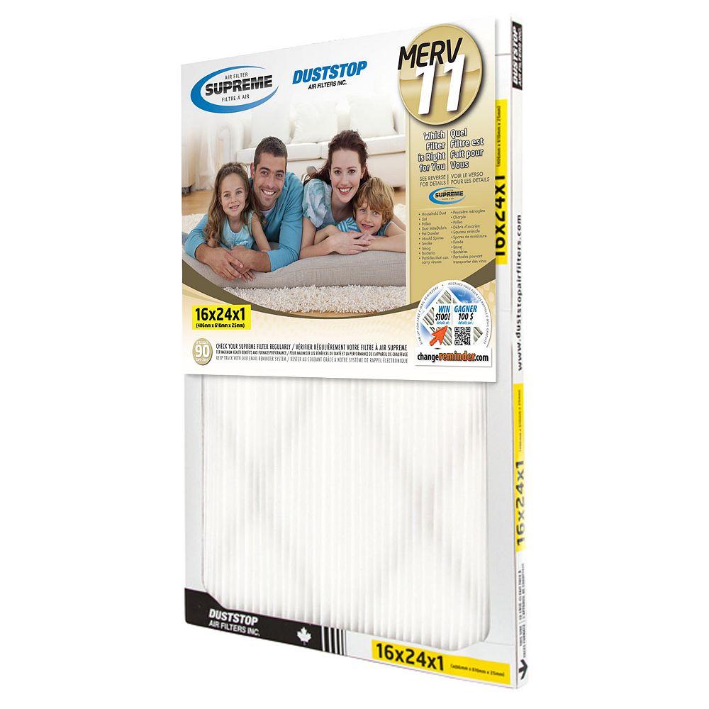 Duststop 16x24x1 MERV 11 Supreme Filter (6-Pack)