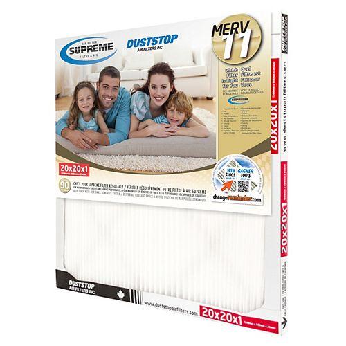 20x20x1 MERV 11 Supreme Filter (6-Pack)