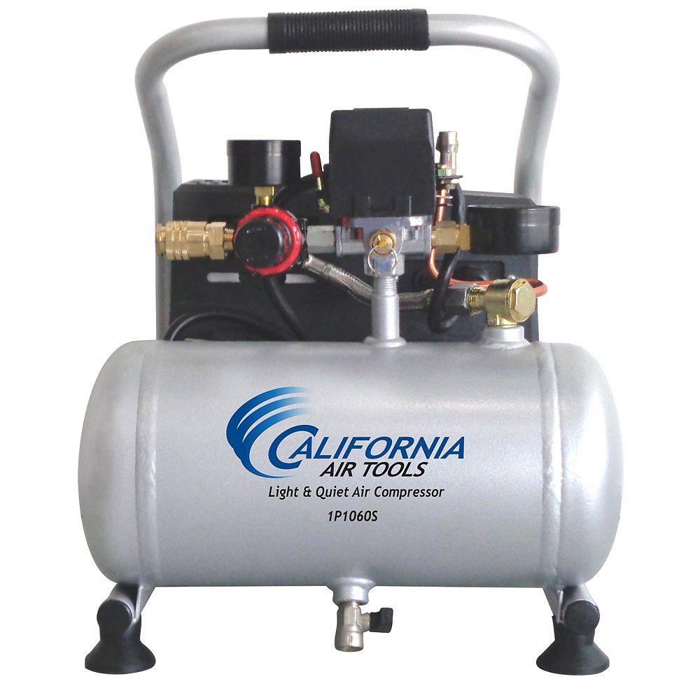 California Air Tools .6 HP 3.8L 90 PSI Quiet Oil-Free Steel Tank Air Compressor