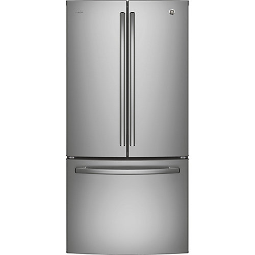 33-inch W 24.8 cu. ft. French Door Refrigerator in Stainless Steel