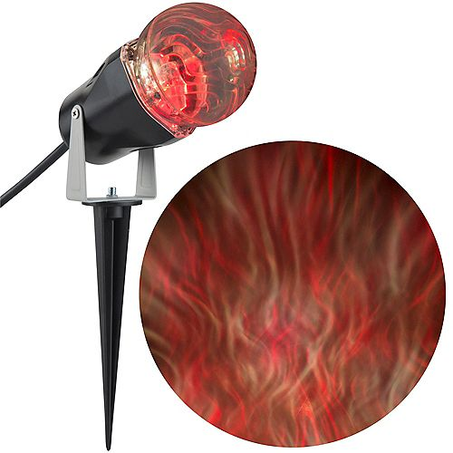 Orange LED Ghost Flame Projector