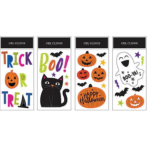 Halloween Gel Cling Decoration (Assorted 12-Pack)