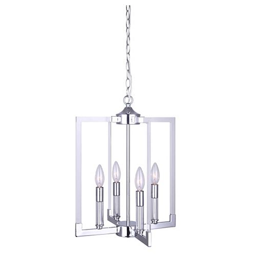 Canarm WILLA 4-Light Chrome Chandelier with Acrylic Accents