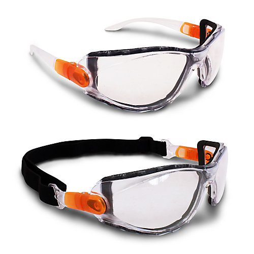 2 in 1 Safety Goggles/Safety Glasses with Clear Lens