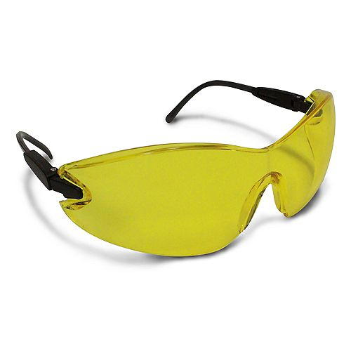 Workhorse Amber Safety Glasses with Frameless Lens