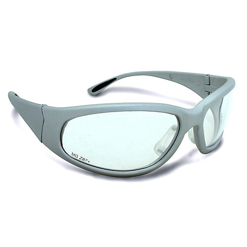 Grey Frame Safety Glasses with Clear Lens