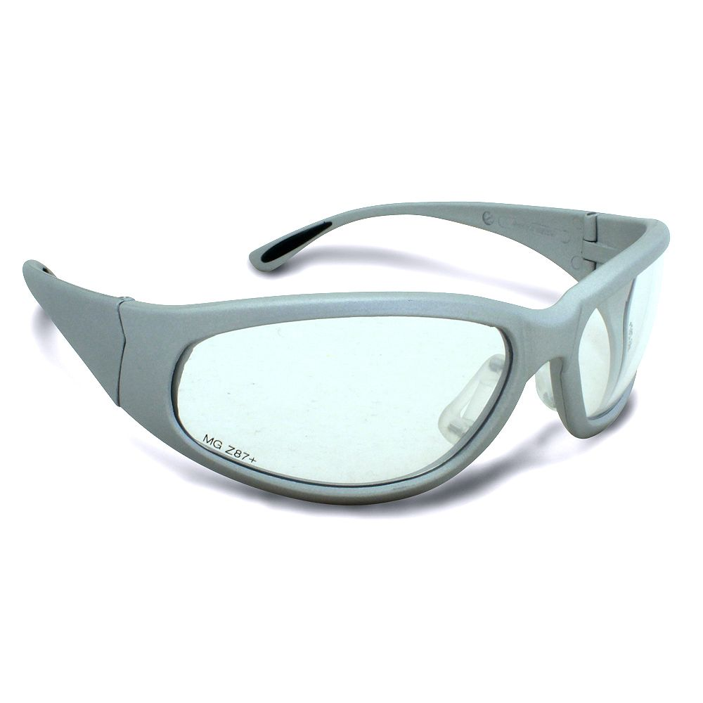 Workhorse Grey Frame Safety Glasses with Clear Lens