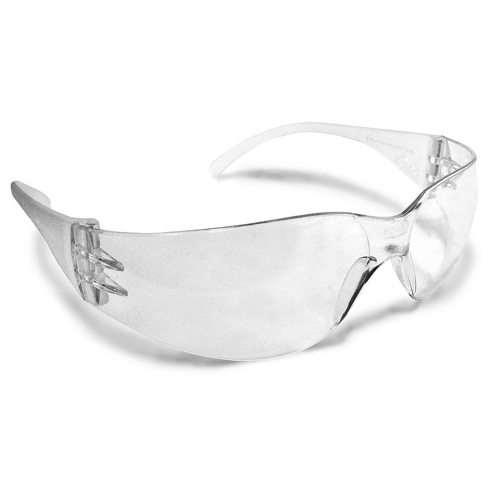 Workhorse Clear Safety Glasses with Matching Arms
