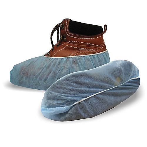 Polypropylene Blue Shoe Covers 3 Pack