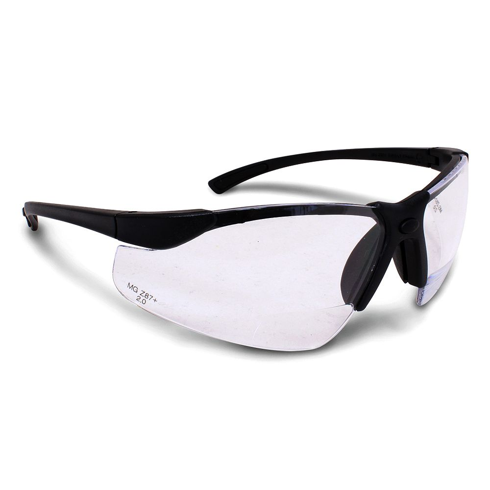 Workhorse Bi-Focal Clear Lens Safety Glasses 2.0