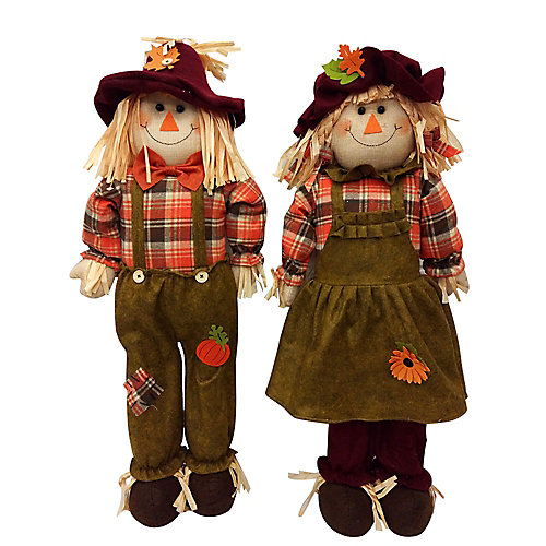 32-inch Harvest Scarecrow (Assorted Styles)