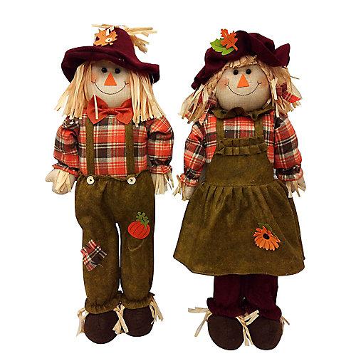 Épouvantail décoratif d'automne, 32 po, modèles variés