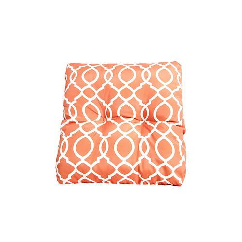 18 x 18 x 4 inch Geo Seat Cushion in Orange