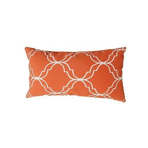 16 x 8 x 4 inch Head Toss Cushion in Orange