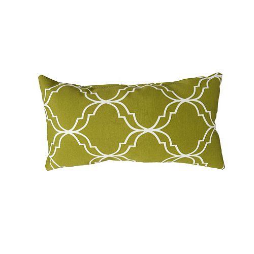 16 x 8 x 4 inch Head Toss Cushion in Green