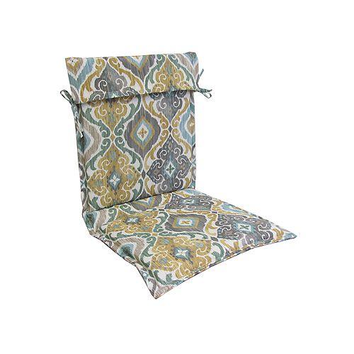 19 x 42 x 2 inch High Back Cushion in Multi-Colour