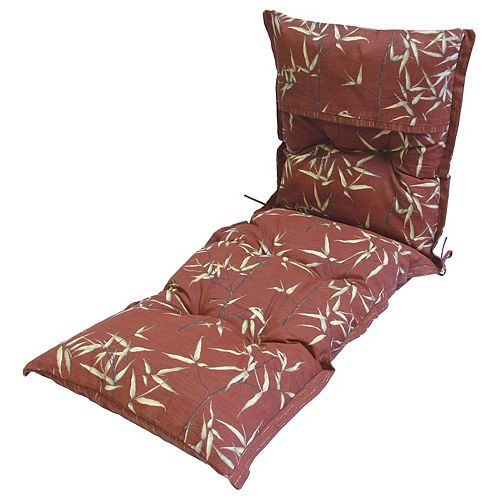 Red Leaves Lounge Cushion 24 x 69 x 4 inch