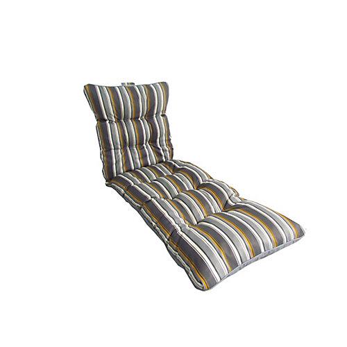 """Coussin de chaise longue Rayures gris 72 x 22 x 4.5"""""""