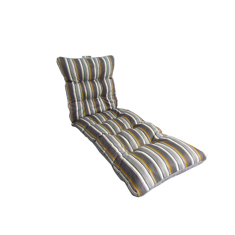 """Coussin de chaise longue Rayures gris 6 x 6 x 6.6"""""""