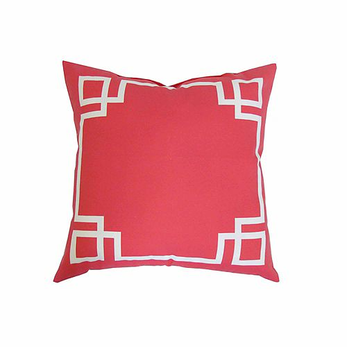 20 x 20 x 6 inch Toss Cushion in Pink