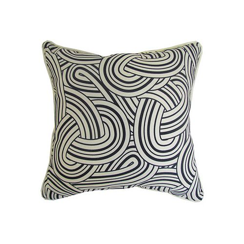 16 x 16 x 6 inch Toss Cushion in Black and White