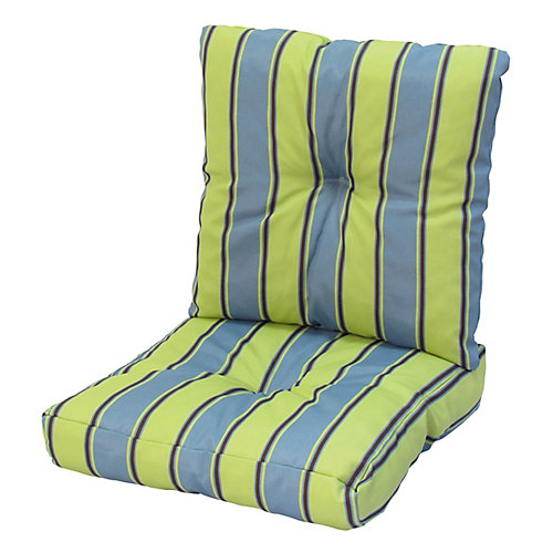 24 x 48 x 5 inch Deep Seat Cushion with Multi colour Stripes
