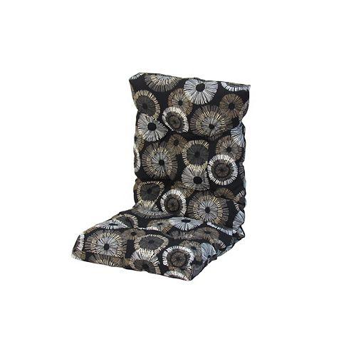 20 x 47 x 4.5 inch High Back Cushion with Black Circles