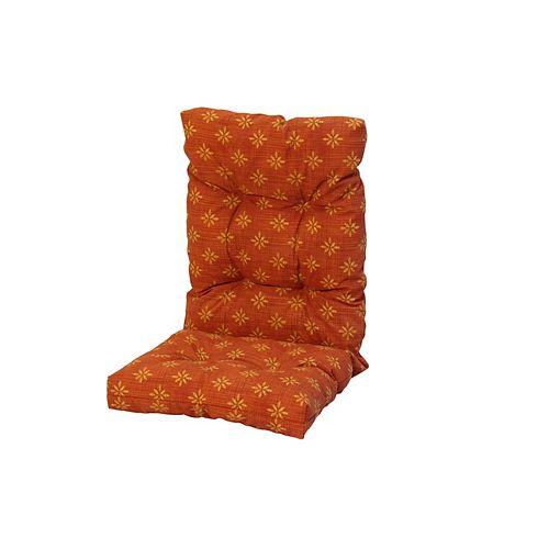 20 x 47 x 4.5 inch High Back Cushion with Orange Dots