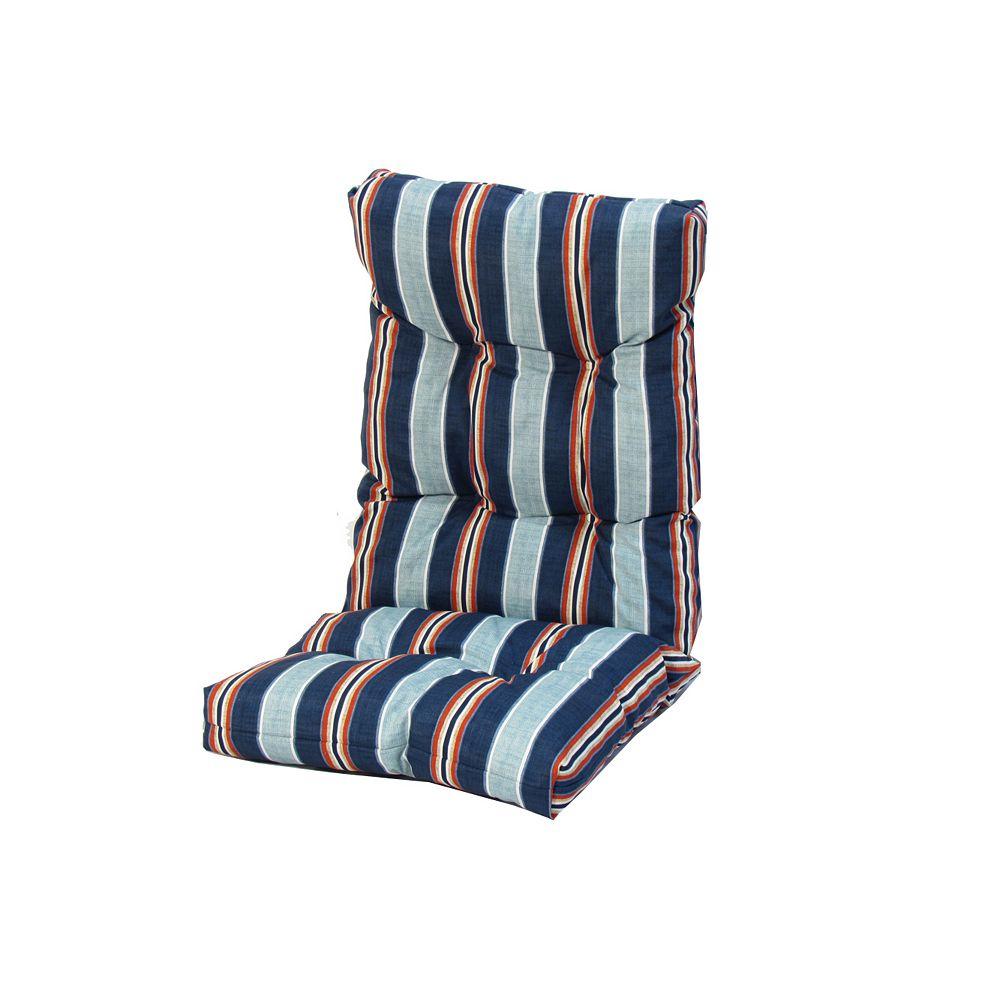 Bozanto Inc. Blue Stripes High Back Cushion 20 x 47 x 4.5 inch