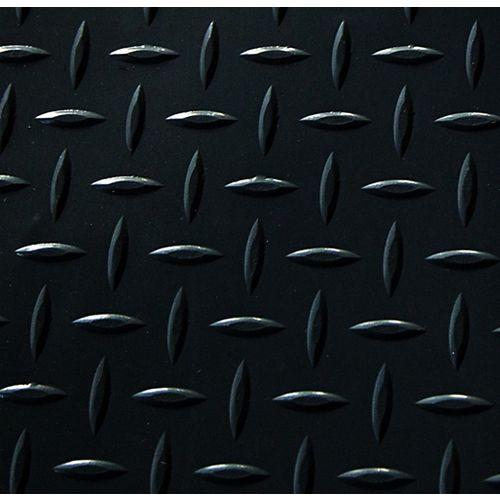 7.5 ft. x 17 ft. Commercial Grade Diamond Tread Garage Flooring in Black