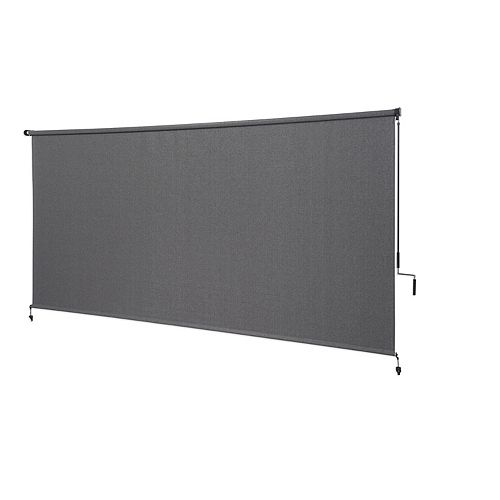Outdoor Crank Roller Shade with 95% UV Protection (10 ft. x6 ft.) Pewter