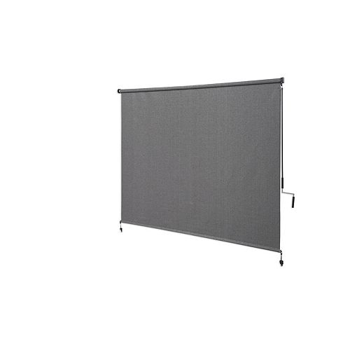 Outdoor Crank Roller Shade with 95% UV Protection, (6 ft. x6 ft.) Pewter