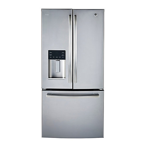 33 inch W 23.8 cu.ft. French Door Bottom-Mount Refrigerator in Stainless Steel - ENERGY STAR®